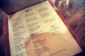 Bubbledogs menu