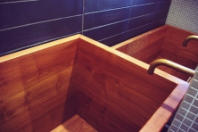 Teak baths